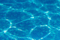 Blue water swimming pool underwater Stock Photography