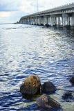 Blue water at tampa bay Royalty Free Stock Images