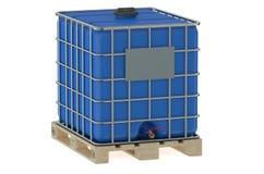 Blue water tank Royalty Free Stock Photos