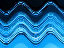 Blue water texture. Blue and black water waves Royalty Free Stock Image