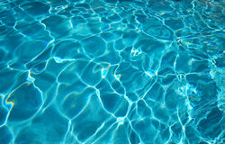 Blue water texture stock image