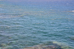Blue Water Texture Stock Photography