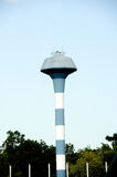 Blue water tower tank Royalty Free Stock Photo