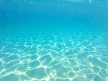 Blue water under the sea Royalty Free Stock Photo