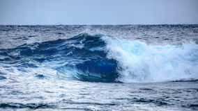 Blue water wave royalty free stock photo
