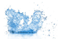 Blue water wave abstract background Stock Photos