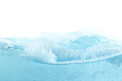 Blue water wave abstract background. Isolated on white Royalty Free Stock Images