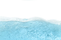 Blue water wave abstract background. Isolated on white Stock Photos