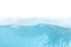 Blue water wave abstract background. Isolated on white Stock Photo