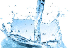 Blue water wave abstract background. Splash water wave abstract isolated over white background Stock Photo