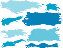 Blue Water Wave Banner Stock Images