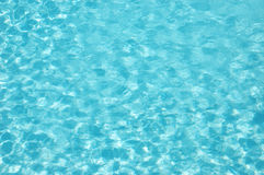 Blue Water wave patttern. Blue water wave pattern of a swimming pool Stock Photos