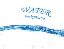 Blue water wave Stock Photo