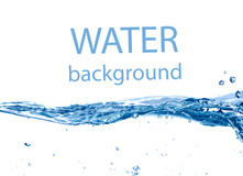 Blue water wave Royalty Free Stock Photos