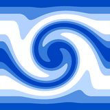 Blue water waves. Shades of blue and white waves pattern Royalty Free Stock Photo