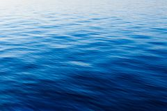 Blue water with waves Stock Photos