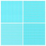 Blue water waves seamless vector background textures set.  vector illustration