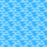 Blue water waves seamless vector texture or pattern.  royalty free illustration