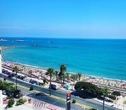 Mediterranen sea in Malaga stock photos