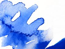 Blue Watercolor Abstract 3 Royalty Free Stock Images