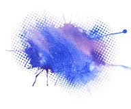 Blue watercolor abstract background Stock Photography