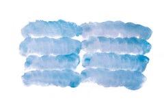 Blue watercolor abstract handmade blot Royalty Free Stock Photos