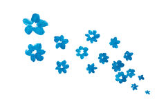 Blue watercolor abstract handmade flowers Stock Photos
