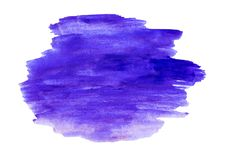 Watercolor abstract paint stroke on white background stock photo