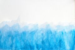 Blue watercolor background ,Abstract hand drawn watercolor brush illustration, grunge style. to design and decor backgrounds, royalty free stock photo