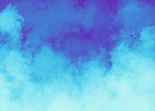 Blue watercolor background. Digital painting. It can be used as logo, web, product display, design of cards, posters, notebooks, t-shirts and so on Royalty Free Stock Photos