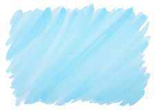 Blue watercolor background with frayed edges Stock Photo