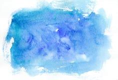 Blue watercolor background vector illustration