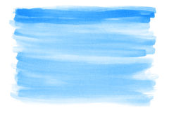 Blue watercolor background Royalty Free Stock Photos