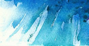 Blue watercolor background. Diagonal brush strokes. stock images