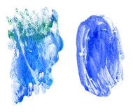 Blue watercolor background. Scanned in high resolution Stock Photos