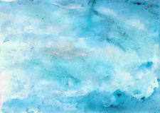 Blue watercolor background Sea Sky Royalty Free Stock Photography