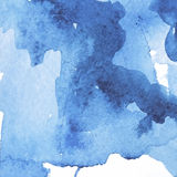 Blue watercolor background with spots Royalty Free Stock Photo