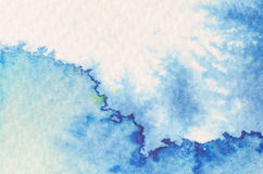 Blue watercolor background texture Stock Photography