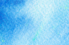 Blue watercolor background texture Stock Photo