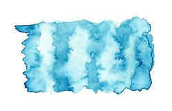 Blue watercolor background for textures and backgrounds vector illustration