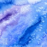 Blue watercolor background. Vector illustration Royalty Free Stock Image