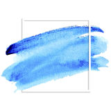 Blue watercolor banner for design Royalty Free Stock Images