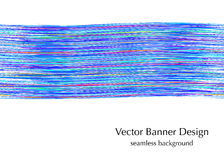 Blue watercolor banner illustration. Royalty Free Stock Photography