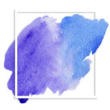 Blue watercolor banner Stock Images