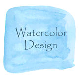 Blue watercolor banner for your project design. Stock Image