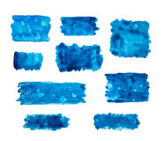 Blue watercolor banners Royalty Free Stock Photos