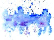 Blue Watercolor Blot Stock Photo