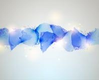 Blue watercolor blot Stock Photography