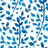 Blue watercolor branches Stock Photography