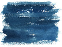 Blue watercolor brush stroke Royalty Free Stock Photos